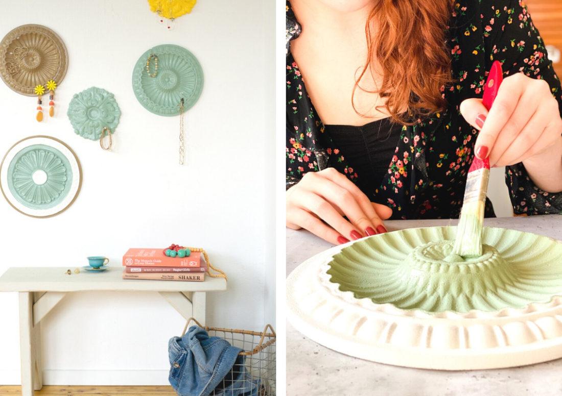 DIY Rosette Schmuckhalter