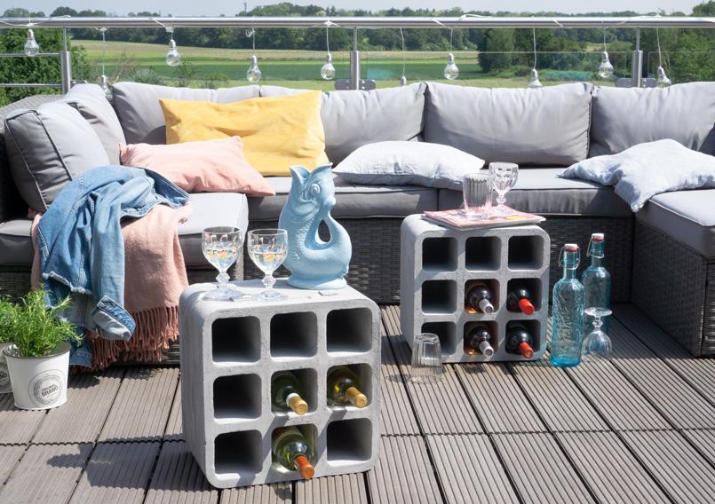 Getränkebox Beton Look für den Balkon